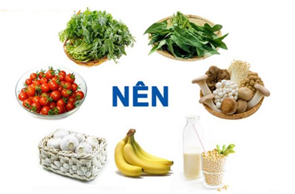 thực phẩm tốt cho tăng huyết áp